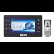 "Zicom 7"" Color Video Door Phone System +  Audio Video Recording"